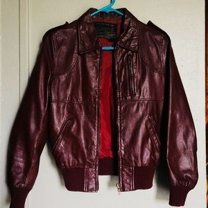 ♦️Vintage genuine Leather jacket♦️